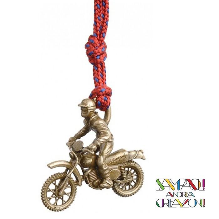 【SAC 義大利】青銅掛飾吊飾-越野機車 義大利傳統飾品工藝 (SAC251)