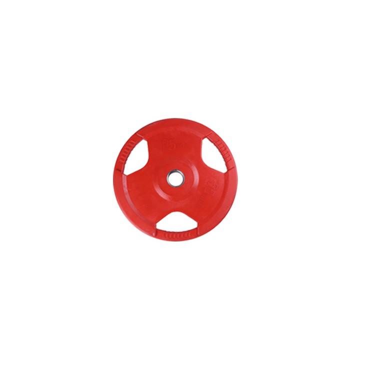 15/20/25公斤彩色包膠三孔手抓槓片 (單片販售)【奧林匹克規格孔徑5公分槓片】啞鈴片