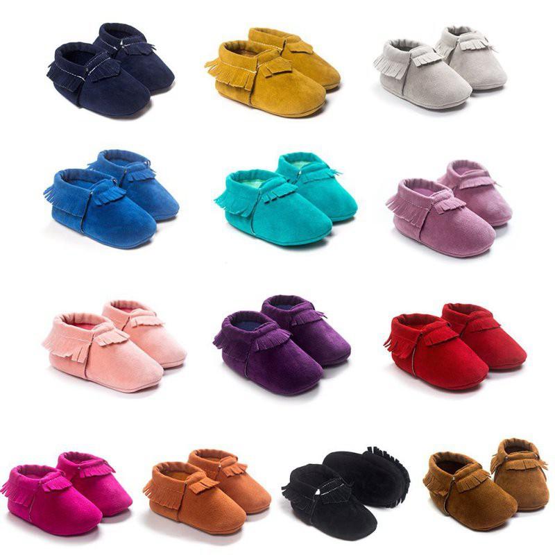 嬰兒軟底鞋 嬰兒鞋 嬰兒幼兒絨面革流蘇鞋【IU貝嬰屋】