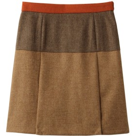 Brooks Brothers ブルックス ブラザーズ 【Red Fleece】ウールツイード ミックスパターン Aラインスカート ブラウンマルチ