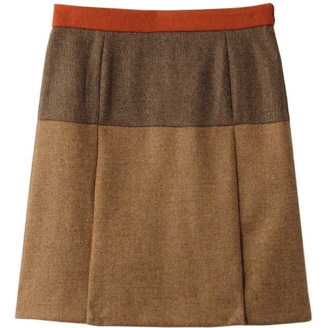 SALE 【40%OFF】 Brooks Brothers ブルックス ブラザーズ 【Red Fleece】ウールツイード ミックスパターン Aラインスカート ブラウンマルチ
