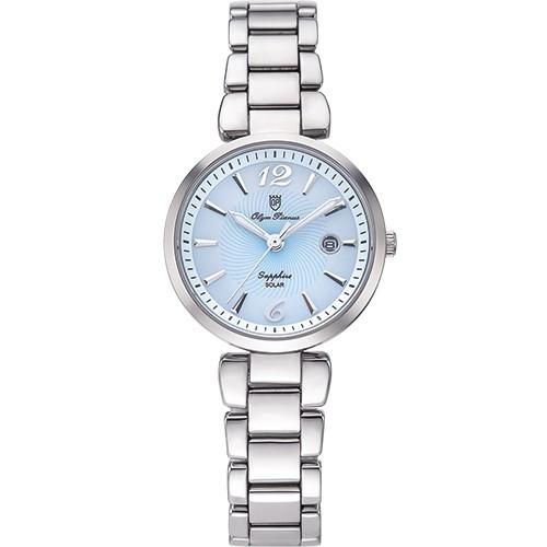 【Olym Pianus 奧柏表 】潮流太陽能淑女腕錶-藍 5699LS