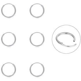 軟骨フープイヤリング メンズ レディース シルバー