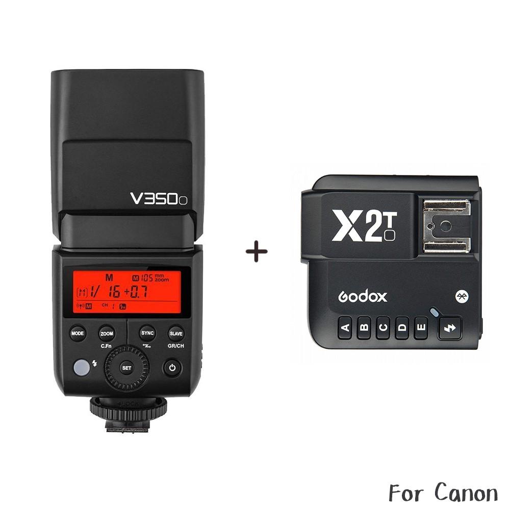 [送原電] Godox 神牛 V350C + X2T發射器 Canon TTL鋰電機頂閃 V350 相機專家 [公司貨]