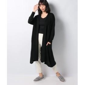 【30%OFF】 マーコート drape long カーディガン レディース BLACK f 【MARcourt】 【セール開催中】