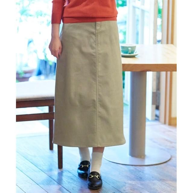 あったか♪裏フリースストレッチロング丈スカート (ロング丈・マキシ丈スカート)Skirts, 裙子