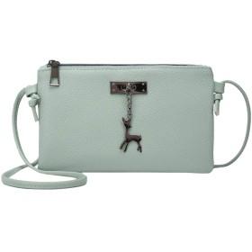 鹿のおもちゃ女性の財布の日クラッチ女性のためのバッグ#F-のトップ、グリーンでNBO女性のメッセンジャーバッグレディクラッチミニバッグ