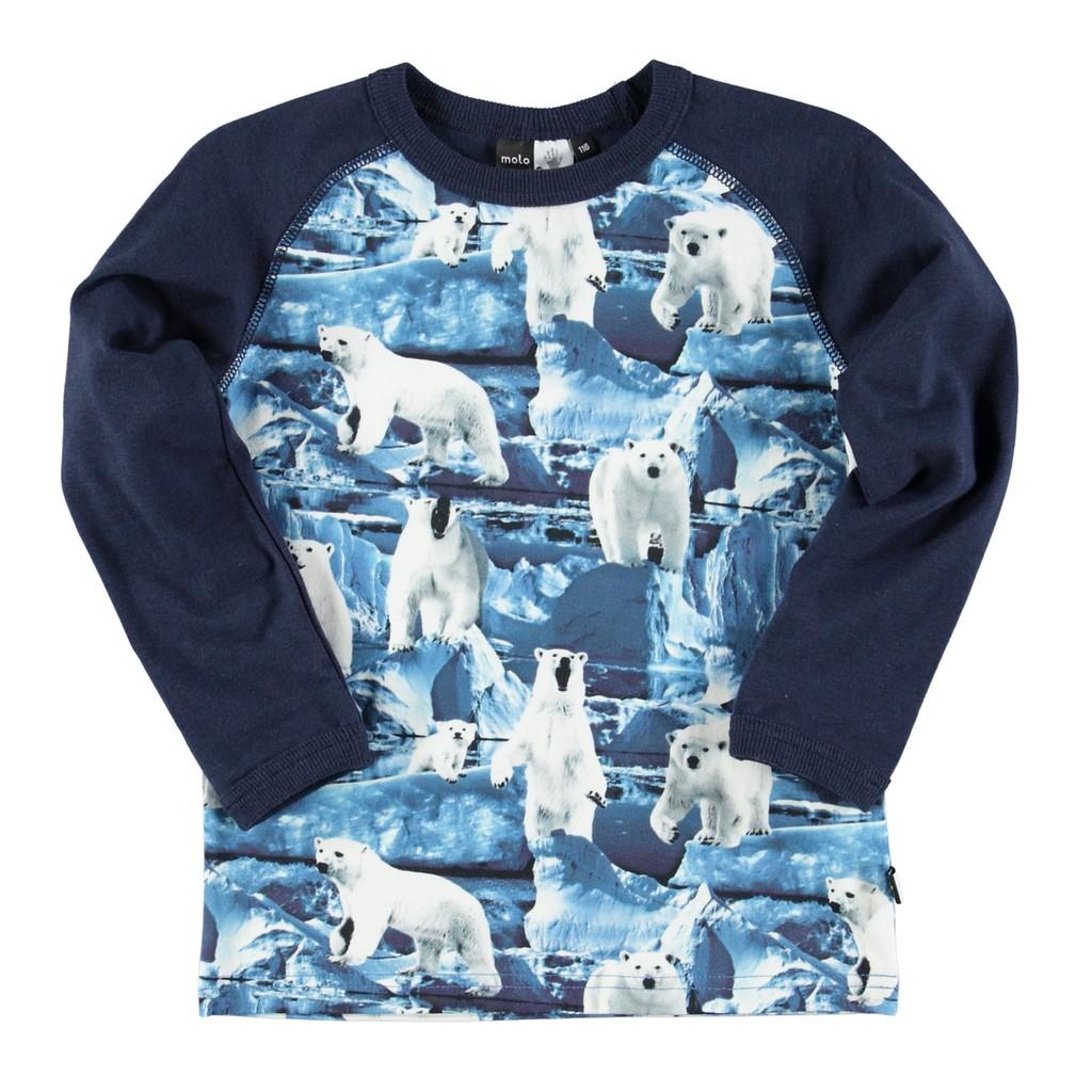 丹麥 MOLO 深藍北極熊長袖上衣|104cm 110cm 116cm 122cm 128cm