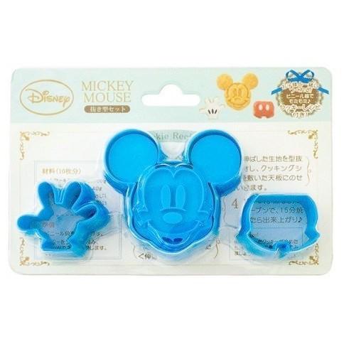 Disney 迪士尼 米奇壽司模 餅乾模具 三明治模 蛋糕模 蔬菜模型-藍 4984909402867