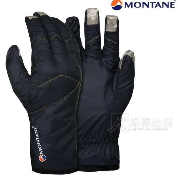 Montane 英國 Prism Glove 保暖手套 黑 GPRGL-BLA 防風快乾抗水 可觸控 綠野山房