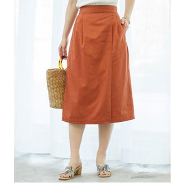 SALE開催中【ROPE' PICNIC:スカート】ラップ風アイラインスカート