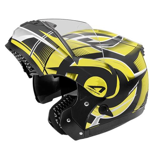 【ASTONE】RT1100 GG20 (平黑黃) 通風 透氣 除霧 法國品牌 可掀式安全帽 可樂帽 汽水帽