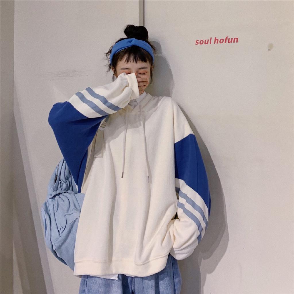 [嬌戀主角]帽t 長袖帽t 男友風大學T 女新款韓版上衣 熱門cec慵懶風 長袖外套 閨蜜裝 女生衣著 嬌戀主角
