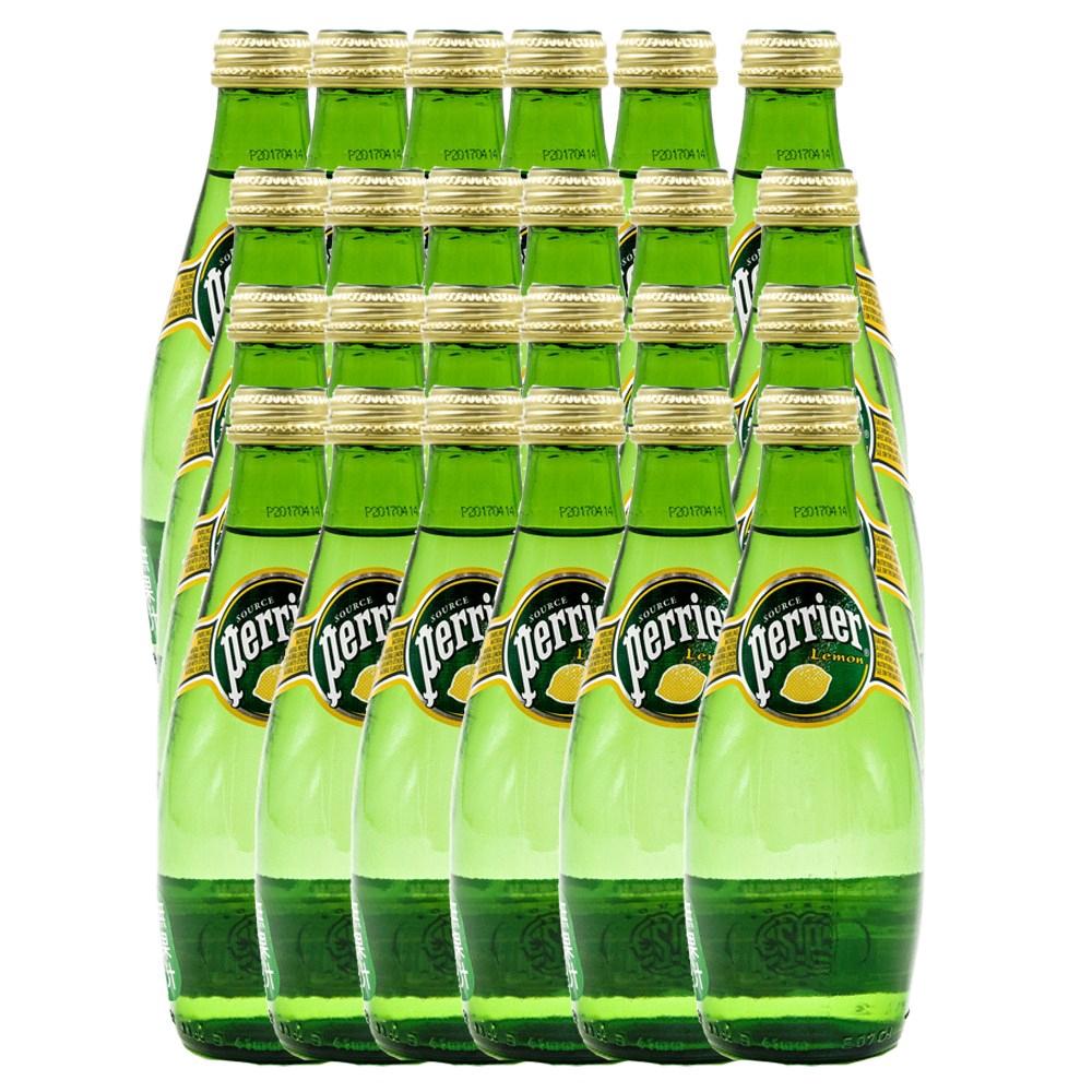 法國沛綠雅氣泡天然礦泉水檸檬330ml 24入組