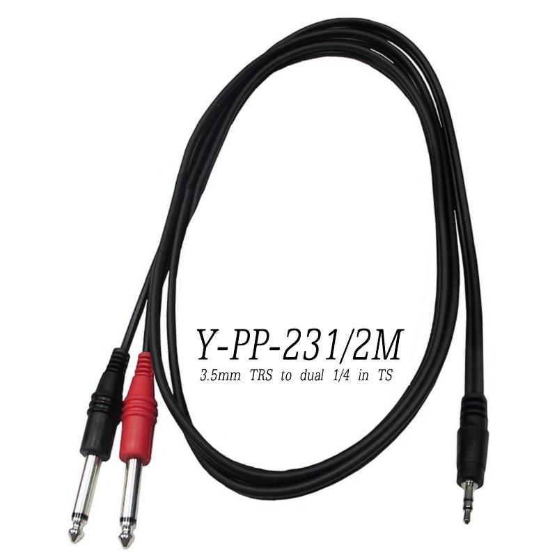 Stander Y-PP-231 Y Cable Y型線 3.5mm 公 轉 雙 6.3mm 公 [唐尼樂器]
