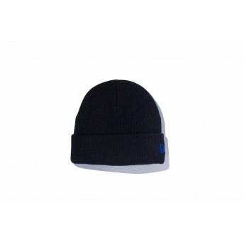 NEW ERA ニューエラ キッズ ベーシック カフニット ブラック × ロイヤル ニット帽 ニットキャップ ニット 帽子 男の子 女の子 ワンサイズ 11119785 NEWERA
