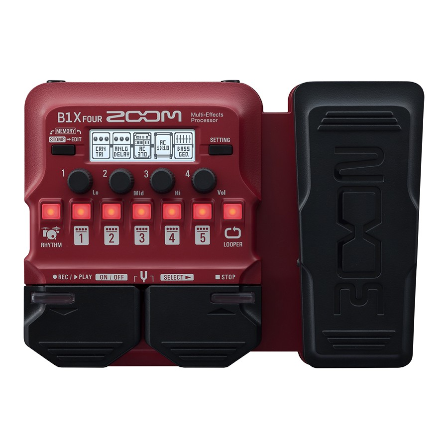 Zoom B1X Four 電貝斯效果器 有踏板 綜合效果器 數位效果器 貝斯效果器 綜效【原廠公司貨】