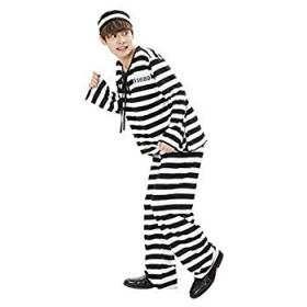 ファンテッドスーツ 囚人 コスプレ メンズ 黒 白