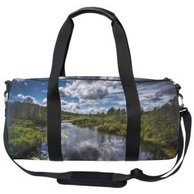 ダッフルバッグ ボストンバッグ スポーツバッグ 旅行バッグ アウトドアバッグ トラベルバッグ 2way 美しい流れ