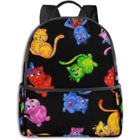 色の猫 リュック バックパックリュックサック 大容量 PCバッグ レジャーバッグ 旅行カバン 登山リュック ビジネスリュック ユニセックス おしゃれ 人気