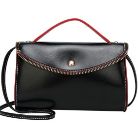 NBOの革のハンドバッグは、女性の結婚式の女性のパーティー財布有名なデザイナークロスボディショルダーメッセンジャーバッグ#F-のトップ、ブラックhotsaleの