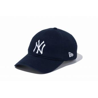 NEW ERA ニューエラ 9TWENTY クロスストラップ ウォッシュドコットン ニューヨーク・ヤンキース ネイビー × ホワイト アジャスタブル サイズ調整可能 ローキャップ ベースボールキャップ キャップ 帽子 メンズ レディース 56.8 - 60.6cm 11308523 NEWERA