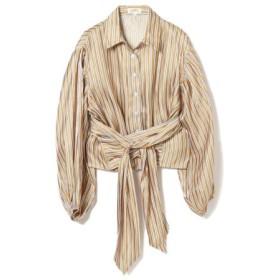 (BEAMS WOMEN/ビームス ウィメン)GHOSPELL/Stripe Crop Shirts/レディース YELLOW