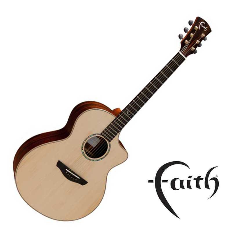 Faith FNCHG民謠吉他 英格曼雲杉面板 玫瑰木背側 全單板 - 【黃石樂器】