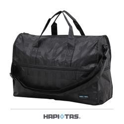 Traveler Station-HAPI+TAS 摺疊旅行袋(小)-128黑色格紋
