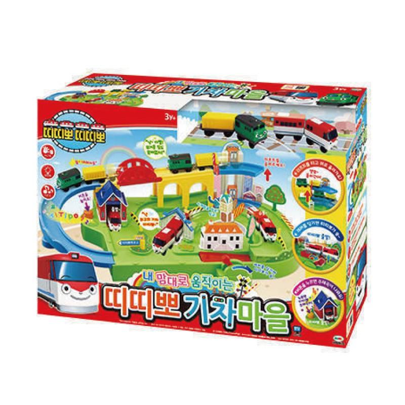 TITIPO 小火車迪迪寶 火車村莊遊戲組 (附兩列火車) 玩具反斗城