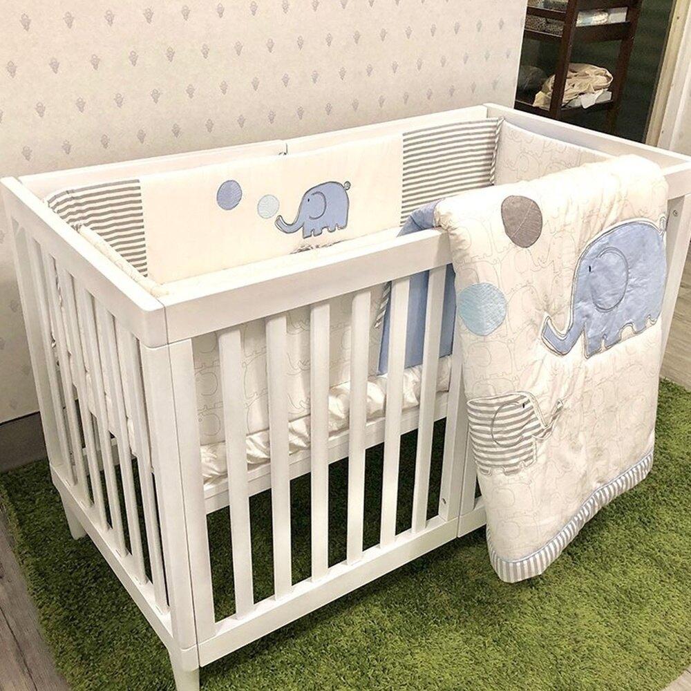 喬依思 La joie 史丹佛6合1多功能書桌嬰兒床-贈5cm床墊-白色 (120X60)