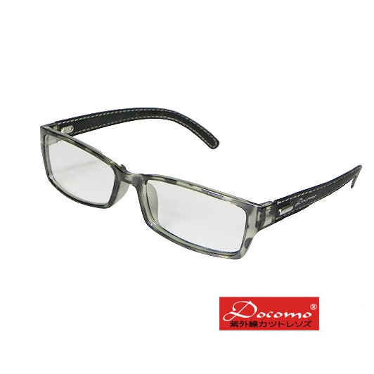 【Docomo】質感平光眼鏡 抗紫外線UV400平光鏡片 可配度數鏡框 質感皮質腳 贈送原廠眼鏡盒