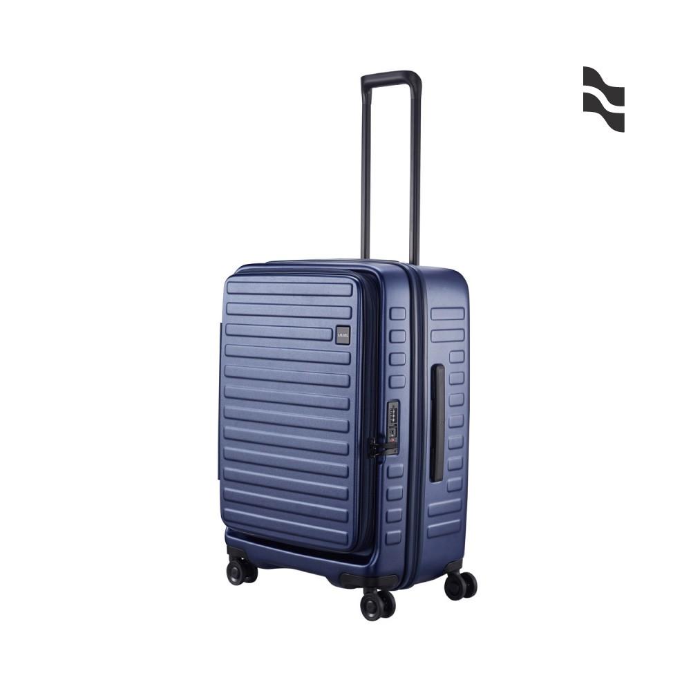 LOJEL CUBO 26吋行李箱 海軍藍【五福居家生活館】上掀蓋擴充行李箱