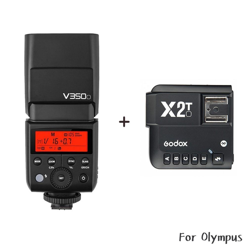 [送原電] Godox 神牛 V350O + X2T 發射器 Olympus TTL 鋰電機頂閃 相機專家 [公司貨]