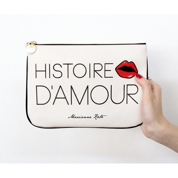 MARIANNE KATE 個性手拿包 歐美普普風 萬用收納袋 旅行收納 化妝包 萬用小包 style clutch