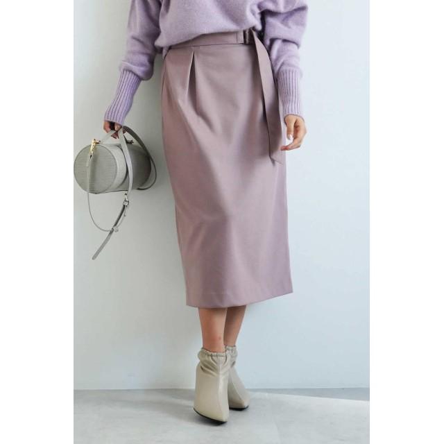 【公式/フリーズマート】コクーンタックナロースカート/女性/スカート/ピンク/サイズ:FR/(表生地)ポリエステル 69% レーヨン 30% ポリウレタン 1%(裏生地)ポリエステル 100%