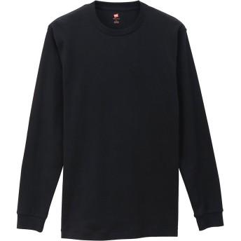Hanes PREMIUM ヘインズ プレミアム クルーネックロングスリーブスエードニット Tシャツ M→L Lサイズ メンズ