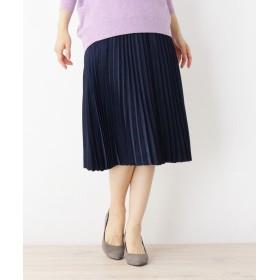 ITS' DEMO(イッツデモ) サテンプリーツスカート