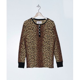 【SALE(伊勢丹)】<WACKO MARIA/ワコマリア> LEOPARD HENLY NECK THERMAL SHIRT(TYPE-1)(18FW-WMT-TM01) LEOPARD 【三越・伊勢丹/公式】