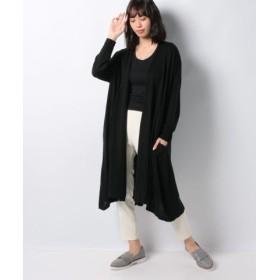 (MARcourt/マーコート)【MidiUmi】drape long カーディガン/レディース BLACK