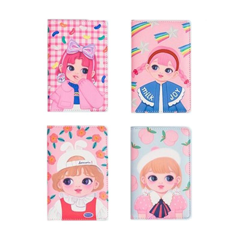 FUFUBAG-大眼女孩多功能護照套/護照包/票卡夾/證件套-共4色