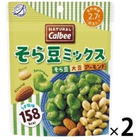 カルビー NaturalCalbee(ナチュラル・カルビー) そら豆ミックス うす塩味 27g 2袋