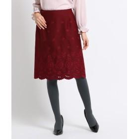 SunaUna(スーナウーナ) 【洗える】エンブロイダリータイトスカート