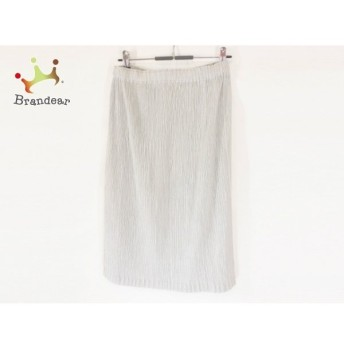 イッセイミヤケ ISSEYMIYAKE ロングスカート サイズ2 M レディース ライトグレー プリーツ   スペシャル特価 20191216