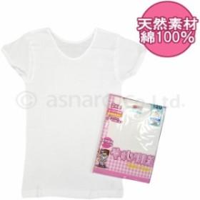 シャツ 子供 肌着 3分丈 キッズ 女の子 抗菌防臭 2枚白