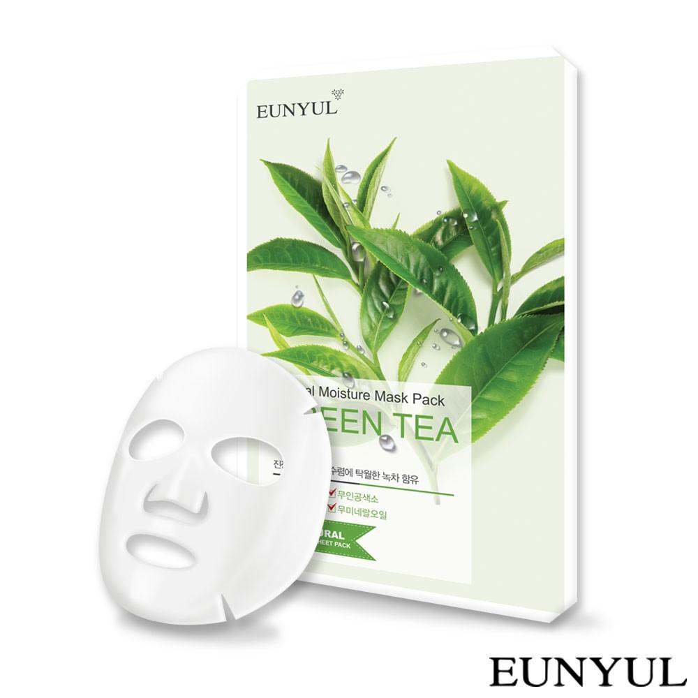 韓國 EUNYUL 自然綠茶面膜 22ml【isLeaf】