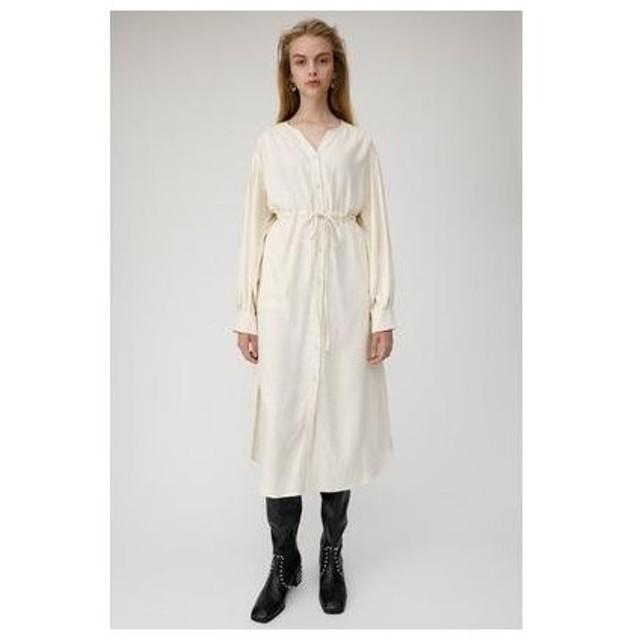 マウジー moussy TUCK SLEEVE SHIRT DRESS (アイボリー)