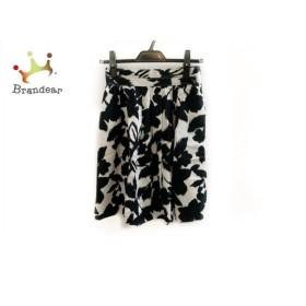 ジャスグリッティー JUSGLITTY スカート サイズ1 S レディース 黒×白 花柄 新着 20191001