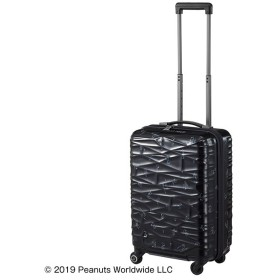 カバンのセレクション プロテカ スヌーピー スーツケース 機内持ち込み Sサイズ 36L ストッパー ココナ ピーナッツ ProtecA 01952 ユニセックス ブラック フリー 【Bag & Luggage SELECTION】