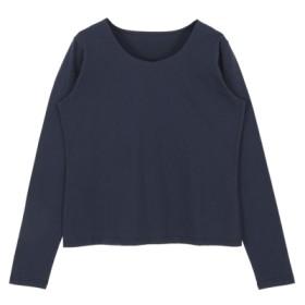 44%OFF titivate (ティティベイト) シンプルロングTシャツ ネイビー